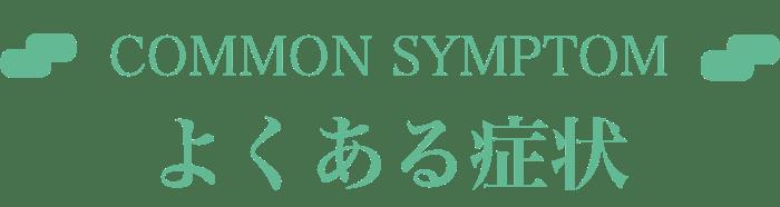 COMMON SYMPTOM よくある症状